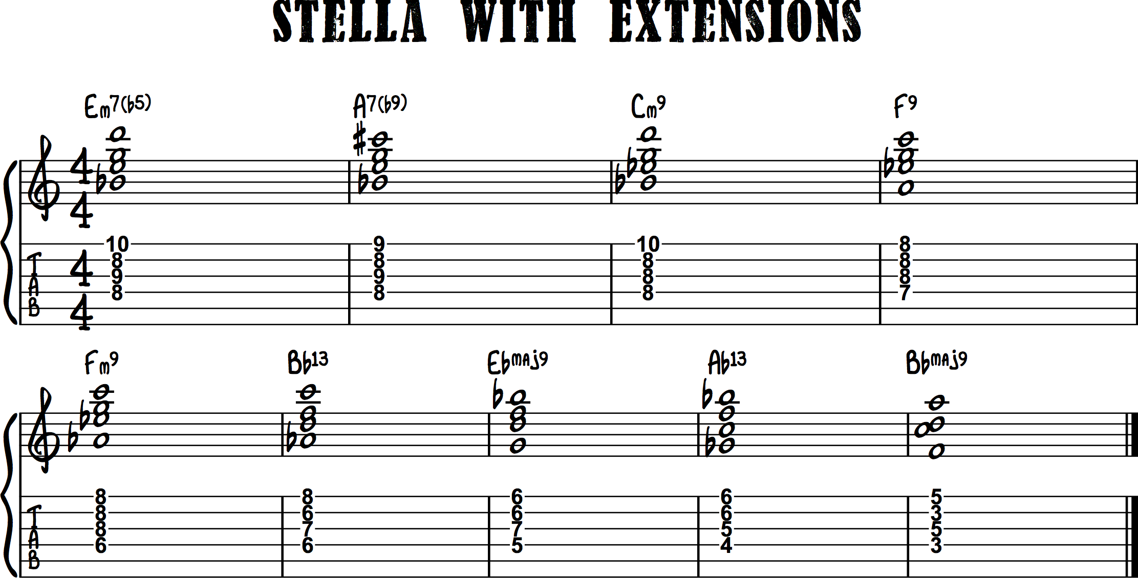 Drop 2 chords stella jazz guitar elements blog its ok if it changes but just make sure if it does change it still sounds musical hexwebz Image collections